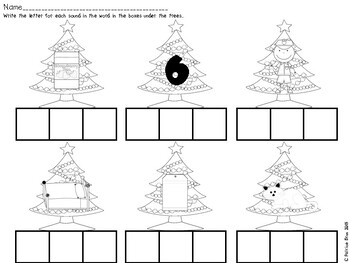 Christmas CVC Worksheet