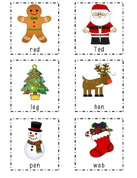 Christmas CVC words