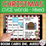 Christmas CVCE Word Boom Cards | Magic E Mystery Picture