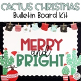Christmas Cactus Bulletin Board Kit - Merry & Bright