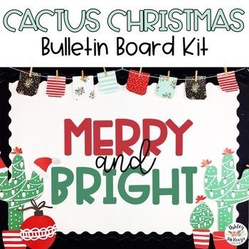 Christmas Cactus Bulletin Board Kit - Merry & Bright