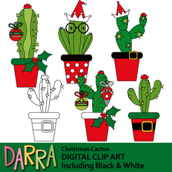 Christmas Cactus Clip Art