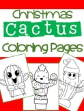 Christmas Cactus Coloring Pages!  No-prep Holiday Craft