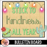 Christmas Cactus Kindness Bulletin Board