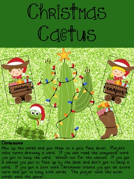 Christmas Cactus - a free compound word game!
