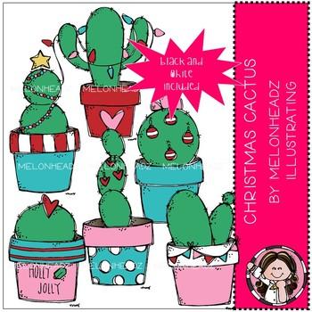 Christmas Cactus clip art - Mini - Melonheadz Clipart