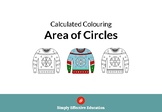 Christmas Calculated Coloring (Area of Circles)