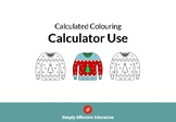 Christmas Calculated Coloring (Calculator Use)