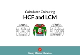 Christmas Calculated Coloring (HCF and LCM)