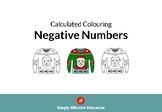 Christmas Calculated Coloring (Negative Numbers)