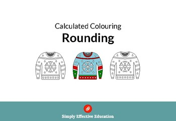 Christmas Calculated Coloring (Rounding)