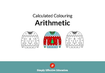 Christmas Calculated Coloring (Written Methods)