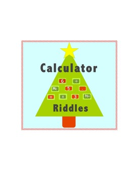 Christmas Calculator Riddles