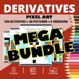 Christmas Calculus Derivatives BUNDLE: Math Pixel Art Activities