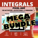 Christmas Calculus Integrals BUNDLE: Math Pixel Art Activities
