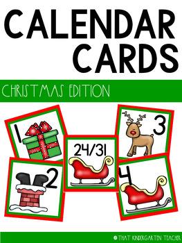 Christmas Calendar Cards