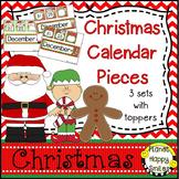 Christmas Activity ~ Calendar: Christmas ~ Number Order 1-31 ~ 3 sets