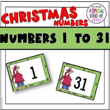 Christmas Calendar Numbers