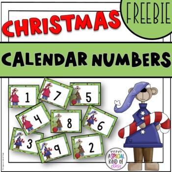 Christmas Mice Calendar Numbers