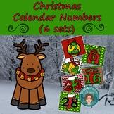 Christmas Calendar Numbers (6 sets) 1-31