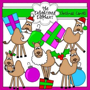 Christmas Camels Clip Art