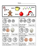 "Christmas ""Can you buy it?"" Worksheet"