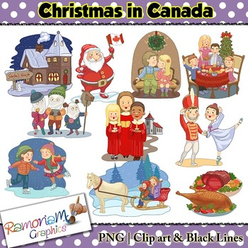 Christmas around the World Clip art Canada