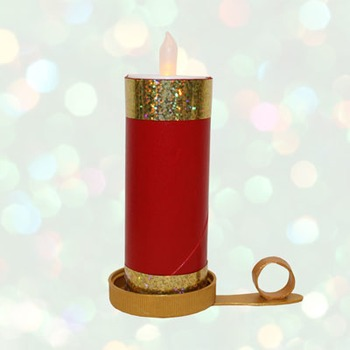 Christmas Candle Craft Project