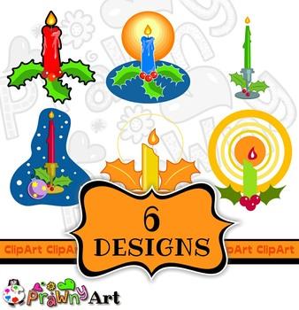 Christmas Candle Holiday Clip Art Set