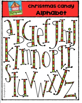 Christmas Candy Alphabet {P4 Clips Trioriginals Digital Clip Art}