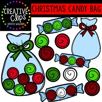 Christmas Candy Bags {Creative Clips Digital Clipart}