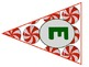 Christmas Candy Bunting Alphabet A-Z uppercase and lowercase