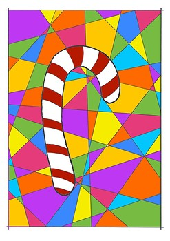 Christmas Candy Cane Colouring Sheet - Christmas Booklet