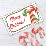 Christmas Candy Cane Cookie Bag Toppers for Cookie Exchanges & Bake Sales
