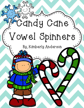 Christmas Candy Cane Spins - Short Vowels / Long Vowels (NO PREP)