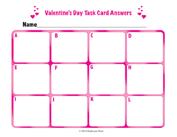 Valentine's Day Story Problems and Task Cards