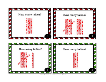 Christmas Candy Cane Tally Task Card