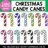 Christmas Candy Canes Clipart {Lidia Barbosa Clipart}