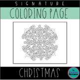 Christmas Candy Canes Coloring Page | Mandala Coloring Page | Adult Coloring