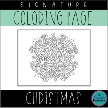 Christmas Candy Canes Coloring Page   Mandala Coloring Page   Adult Coloring