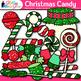 Christmas Candy Clip Art {Glitter Lollipops, Sweets, & Jar