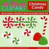 Christmas Candy Clip Art (Digital Use Ok!)