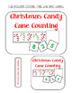 Christmas Candy Cane Counting File Folder Activity