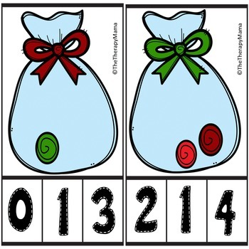 Christmas Candy Counting Number Clip Cards No Prep 1 - 20 Math Center Activity
