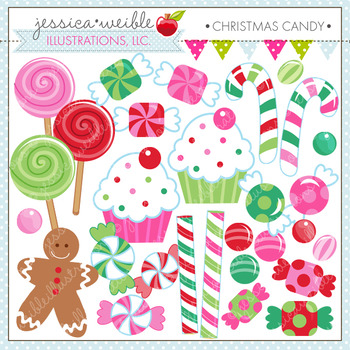 Christmas Candy - Cute Digital Clipart, Christmas Graphics