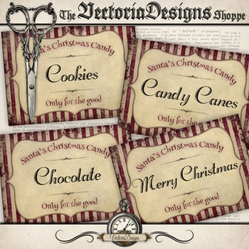 Christmas Candy Labels