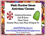 Christmas Candy Math Centers (Number Sense)