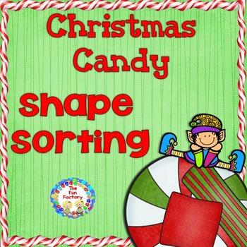 Christmas Candy Shape Sort  - Circle, Square, Rectangle, Oval ~  {PK - K}