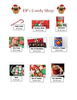 Christmas Candy Shop Budget