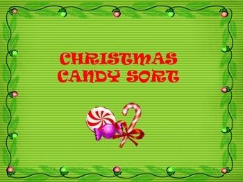Christmas Candy Sort - using a dichotomous key